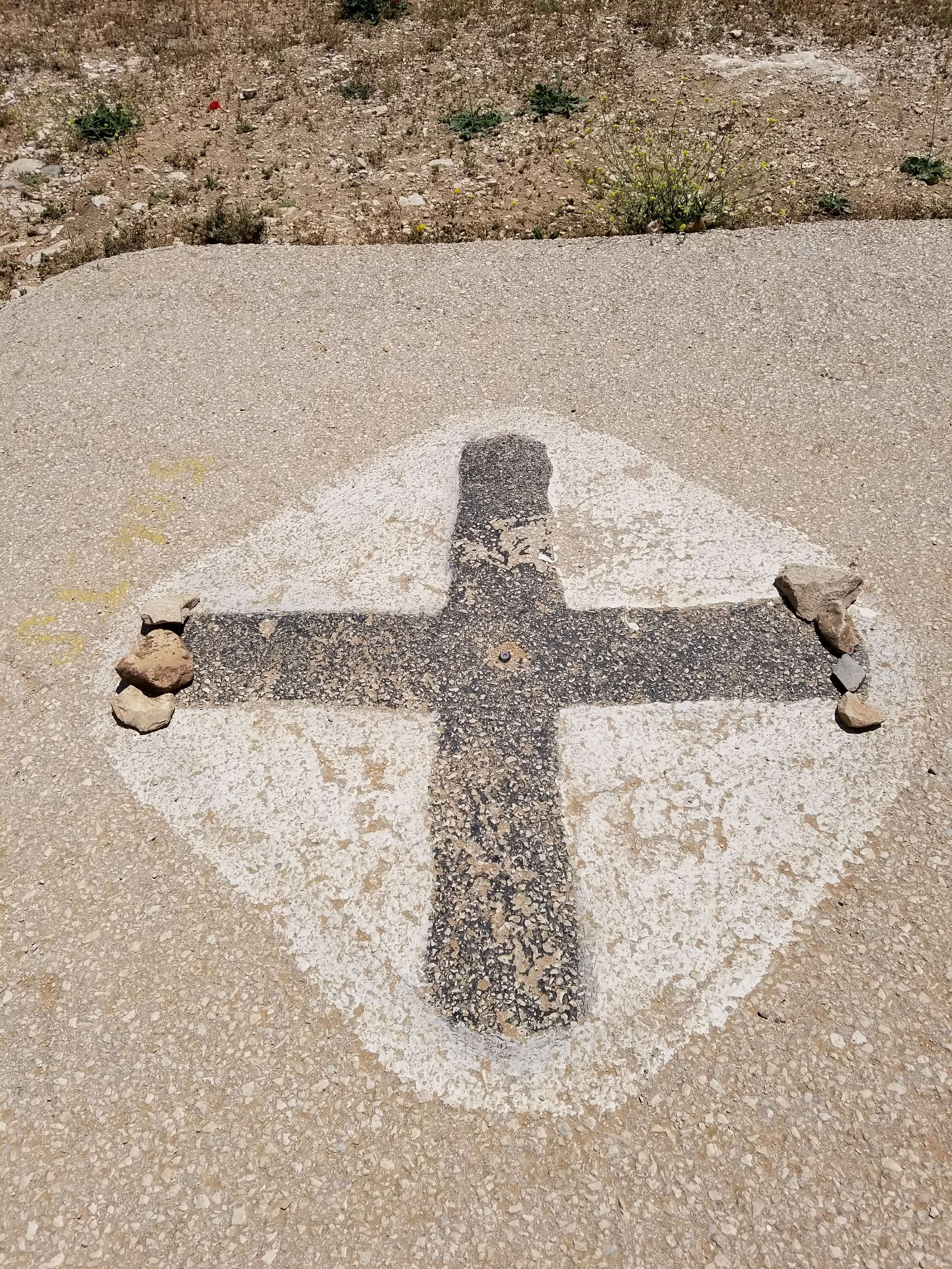 The UPDR Cross found during a trip to Mount Gerizim, Israel